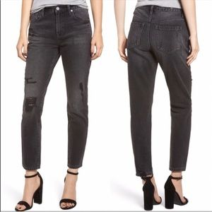 Blank NYC Rivington high waist tapered black jeans